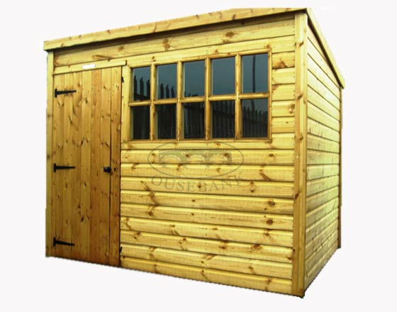 Standard Georgian Pent Shed