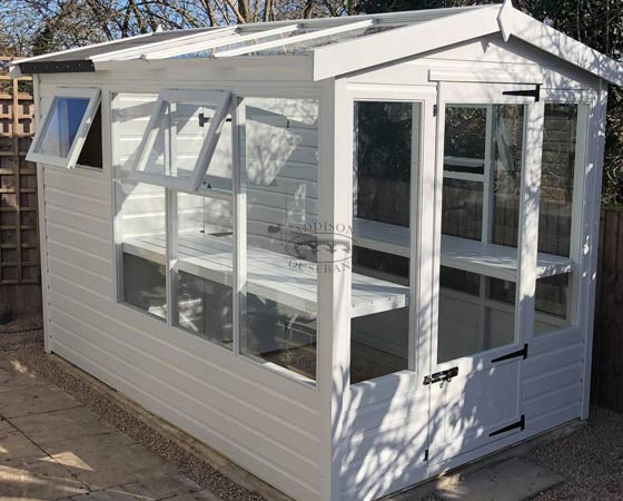 Shed Greenhouse Combination