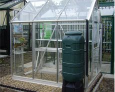 Eco Grid Base system ideal for greenhouses or any garden building